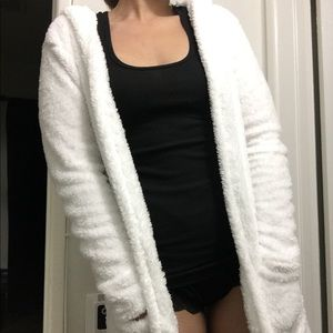 Jackets & Blazers - White plush cardigan